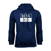 Navy Fleece Hood-Beta Dad Cut Out