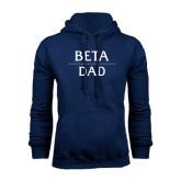 Navy Fleece Hood-Beta Dad Stacked