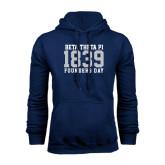 Navy Fleece Hood-Founders Day 1839