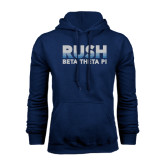 Navy Fleece Hoodie-Rush Lines Beta Theta Pi