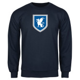Navy Fleece Crew-Official Shield