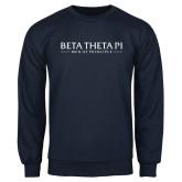Navy Fleece Crew-Beta Theta Pi