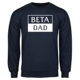 Navy Fleece Crew-Beta Dad Cut Out
