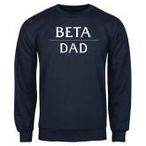 Navy Fleece Crew-Beta Dad Stacked