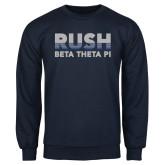 Navy Fleece Crew-Rush Lines Beta Theta Pi