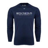 Under Armour Navy Long Sleeve Tech Tee-Beta Theta Pi
