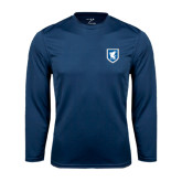 Syntrel Performance Navy Longsleeve Shirt-Official Shield