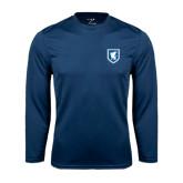 Performance Navy Longsleeve Shirt-Official Shield
