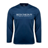 Syntrel Performance Navy Longsleeve Shirt-Beta Theta Pi