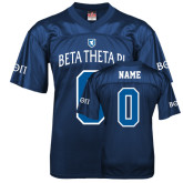 Replica Navy Adult Football Jersey-Official Logo White Letters