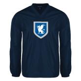 V Neck Navy Raglan Windshirt-Official Shield