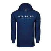Under Armour Navy Performance Sweats Team Hoodie-Beta Theta Pi