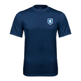 Syntrel Performance Navy Tee-Official Shield