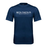 Syntrel Performance Navy Tee-Beta Theta Pi