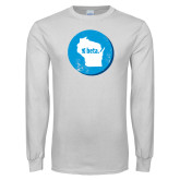 White Long Sleeve T Shirt-Wisconsin