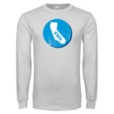 White Long Sleeve T Shirt-California