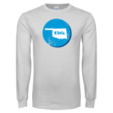 White Long Sleeve T Shirt-Oklahoma