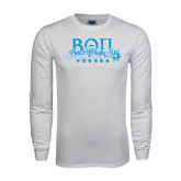 White Long Sleeve T Shirt-Beta Theta Pi Sword Design