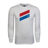 White Long Sleeve T Shirt-Stripe Design