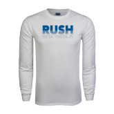 White Long Sleeve T Shirt-Rush Lines Beta Theta Pi
