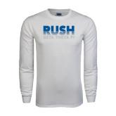 White Long Sleeve T Shirt-Rush Lines Beta Theta Pi