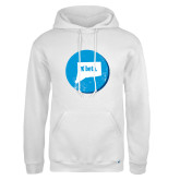 Russell DriPower White Fleece Hoodie-Connecticut
