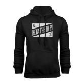 Black Fleece Hoodie-Beta Theta Pi Triangles