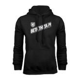 Black Fleece Hoodie-Beta Theta Pi Diagonal