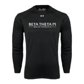 Under Armour Black Long Sleeve Tech Tee-Beta Theta Pi