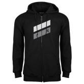 Black Fleece Full Zip Hood-Stripe Design