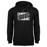 Black Fleece Full Zip Hood-Beta Theta Pi Triangles