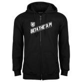 Black Fleece Full Zip Hoodie-Beta Theta Pi Diagonal