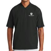 New Era Black Cage Short Sleeve 1/4 Zip-Official Logo
