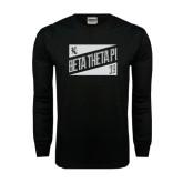 Black Long Sleeve TShirt-Beta Theta Pi Triangles