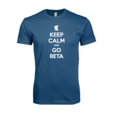 Next Level SoftStyle Indigo Blue T Shirt-Keep Calm and Go Beta