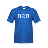 Youth Royal T Shirt-Beta Theta Pi Greek Letters