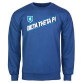 Royal Fleece Crew-Beta Theta Pi Diagonal