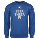 Royal Fleece Crew-Stacked BTP with pattern