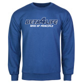 Royal Fleece Crew-Beta 4 Life with Pattern