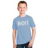 Youth Light Blue T Shirt-Beta Theta Pi Greek Letters