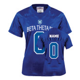 Ladies Royal Replica Football Jersey-Official Logo White Letters