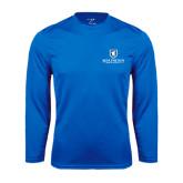 Performance Royal Longsleeve Shirt-Official Logo