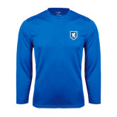 Syntrel Performance Royal Longsleeve Shirt-Official Shield