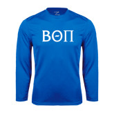 Performance Royal Longsleeve Shirt-Beta Theta Pi Greek Letters