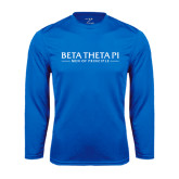 Syntrel Performance Royal Longsleeve Shirt-Beta Theta Pi