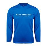 Performance Royal Longsleeve Shirt-Beta Theta Pi