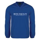 V Neck Royal Raglan Windshirt-Beta Theta Pi