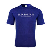 Performance Royal Heather Contender Tee-Beta Theta Pi