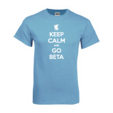 Light Blue T Shirt-Keep Calm and Go Beta