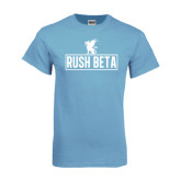 Light Blue T Shirt-Rush Beta Outline
